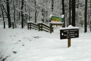 Snow at Hanging Rock State Park