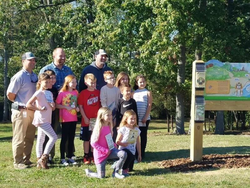 Community celebrating the new TRACK Trail