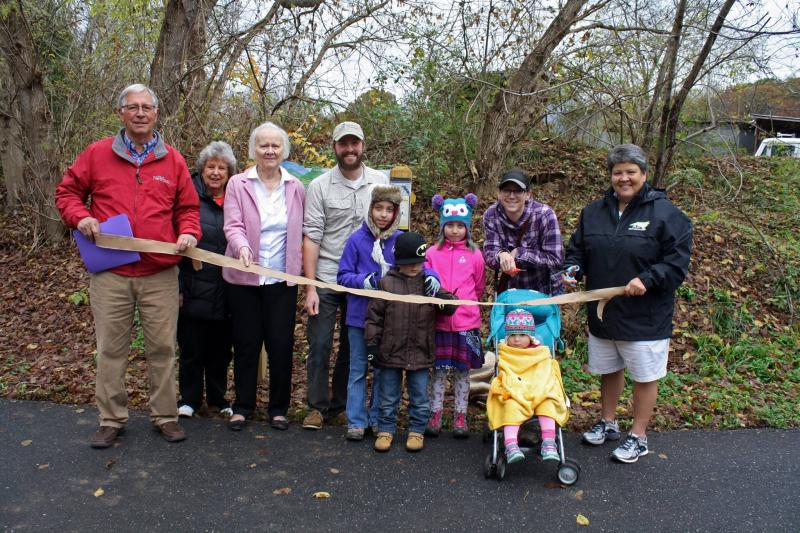 Heritage Trail Greenway TRACK Trail ribbon cutting