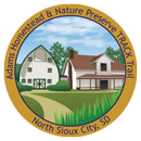 Collectible sticker of Adams Homestead and Nature Preserve