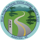 Blue Ridge Parkway Visitor Center TRACK Trail sticker