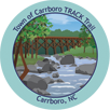 Collectible sticker for Town of Carrboro