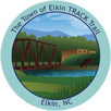 Collectible sticker for Town of Elkin
