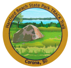 Collectible sticker for Hartford Beach