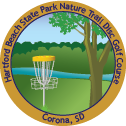 Hartford Beach State Park Nature Trail Disc Golf Course sticker