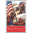Collectible sticker for Manassas National Battlefield