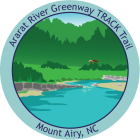 Mount Airy Ararat River TRACK Trail sticker
