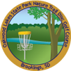 Oakwood Lakes State Park Nature Trail Disc Golf Course sticker