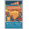 Collectible sticker for Wolf Trap National Park for the Performing Arts