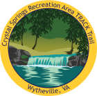 Collectible sticker for Crystal Springs Recreation Area TRACK Trail
