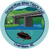 Collectible sticker for Oconaluftee River