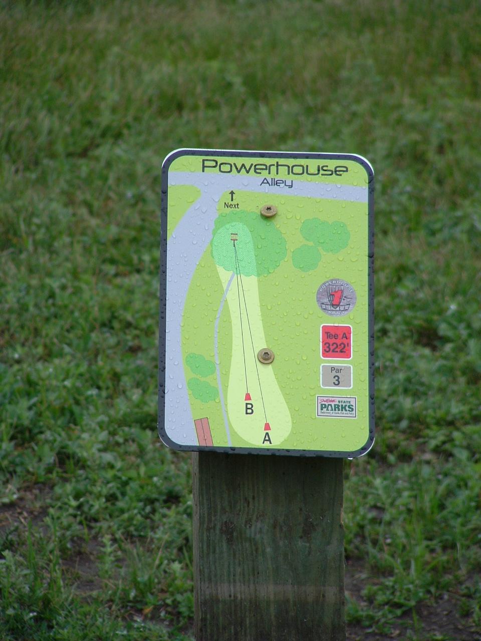 Disc Golf Course Design & Development | Professional Disc ...  |Frisbee Golf Sign