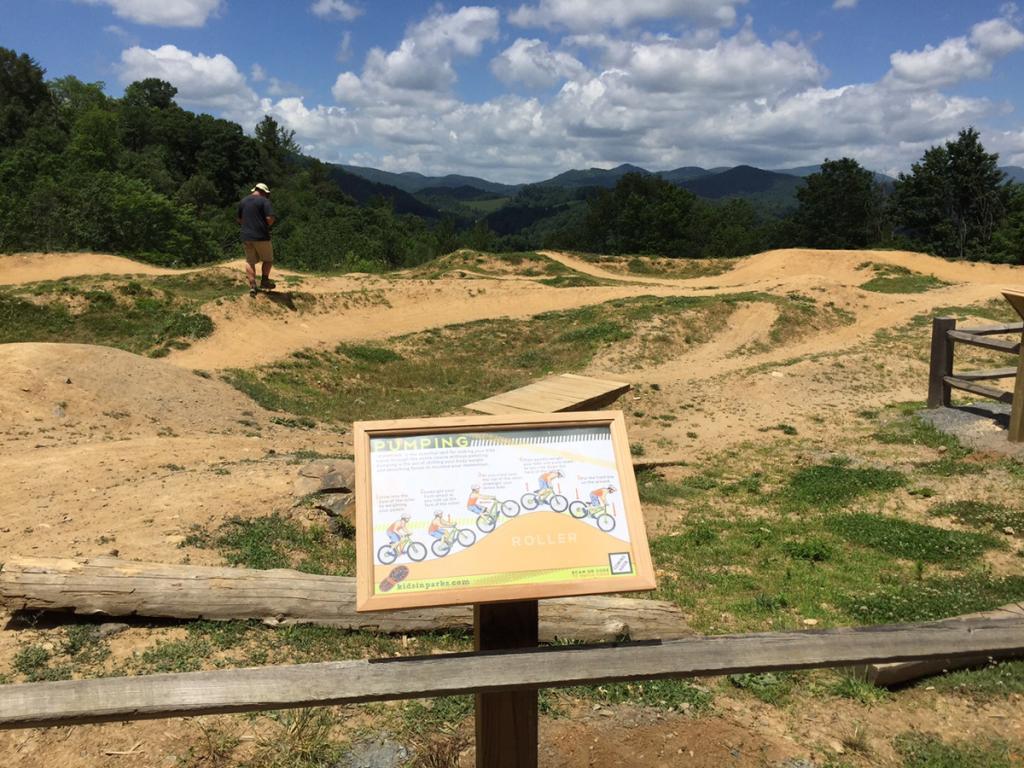 Rocky Knob Bike Park Pump Track | Kids in Parks