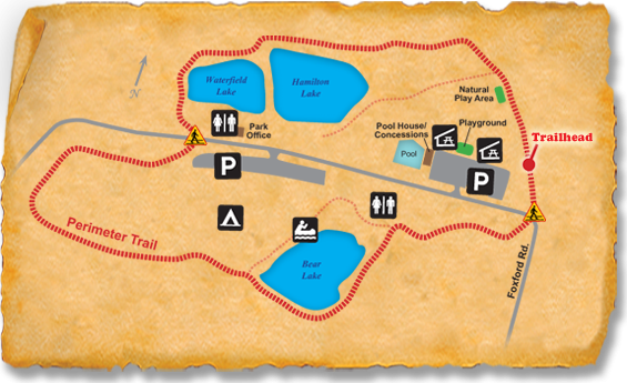 Map of TRACK Trail at Camp T.N. Spencer Park