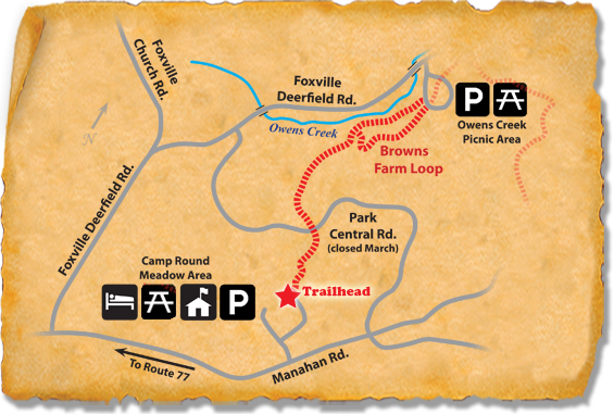 Map of TRACK Trail at Catoctin Mountain Park