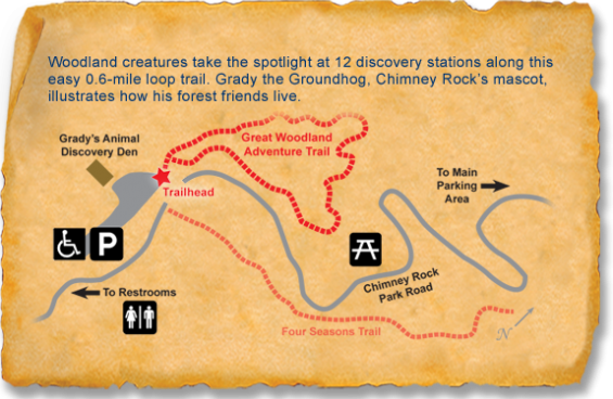Chimney Rock State Park TRACK Trail map