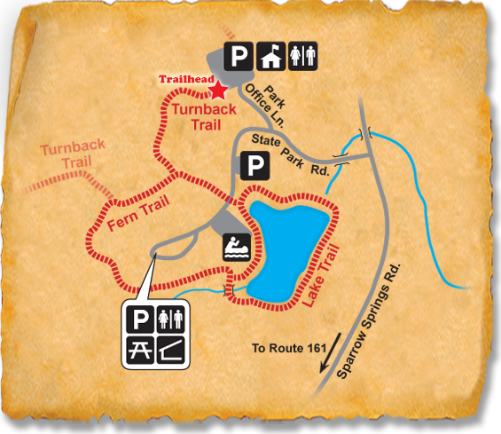 Map of TRACK Trail at Crowders Mountain State Park