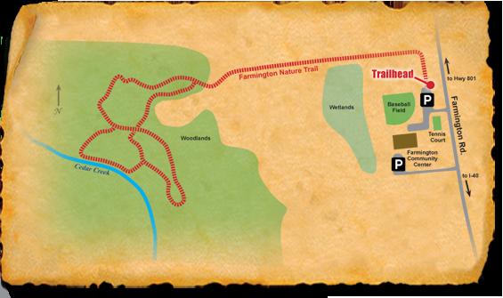 Map of TRACK Trail at Farmington Nature Park