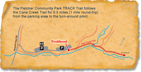 Map of TRACK Trail at Fletcher Community Park
