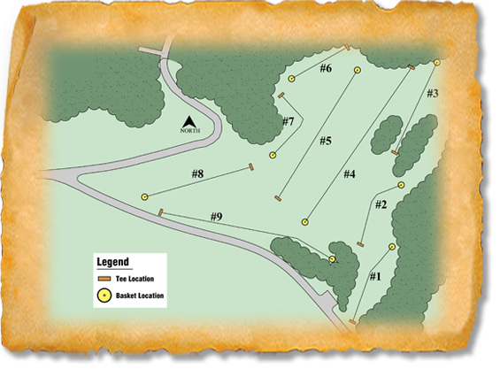 Hartford Beach State Park Nature Trail Disc Golf Course map