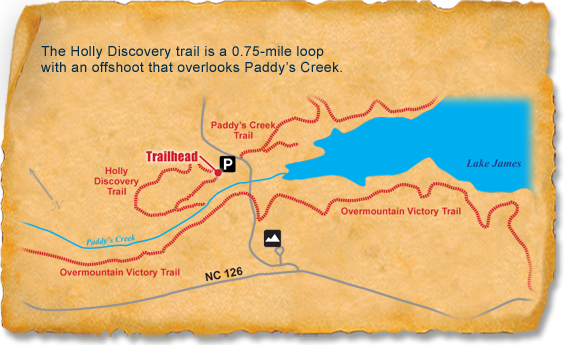Map of TRACK Trail at Lake James State Park