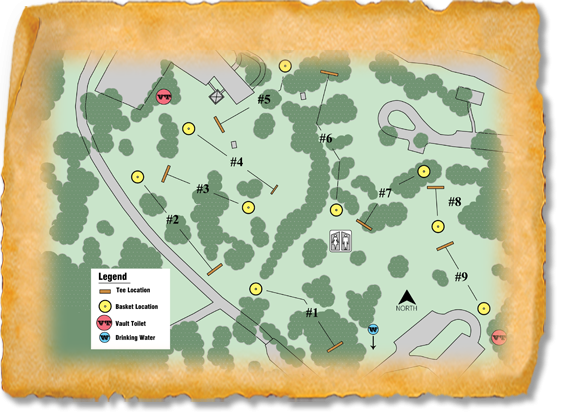 Lewis and Clark Recreation Area Nature Trail Disc Golf Course map
