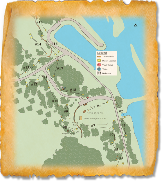Oahe Downstream Recreation Area Nature Trail Disc Golf Course map