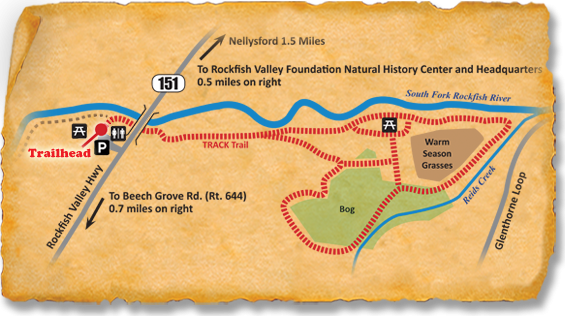 Map of TRACK Trail at Rockfish Valley