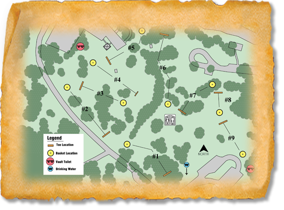 Randall Creek Recreation Area Nature Trail Disc Golf Course map