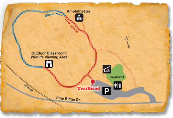 Map of TRACK Trail at Rock Springs Nature Preserve