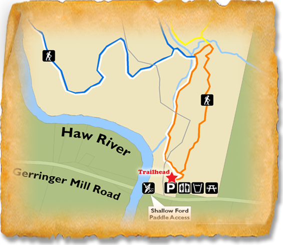 Map of TRACK Trail at Shallow Ford Natural Area