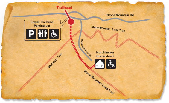 Map of TRACK Trail at Stone Mountain State Park