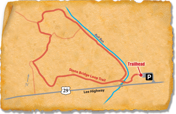 Map of TRACK Trail through Manassas National Battlefield