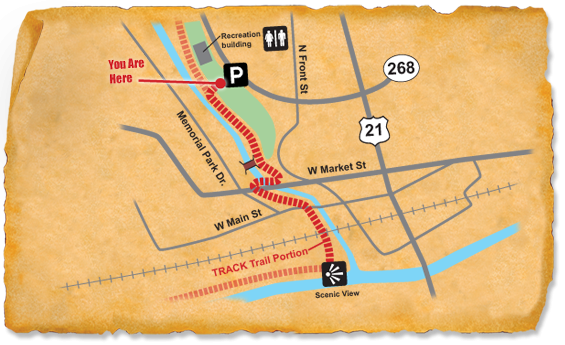 Map of TRACK Trail at Town of Elkin
