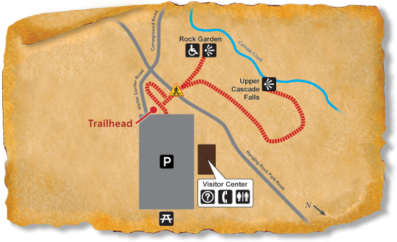 Map of TRACK Trail at Hanging Rock State Park