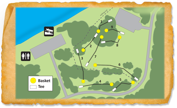 Map of Lake Poinsett Recreation Area Disc Golf Course
