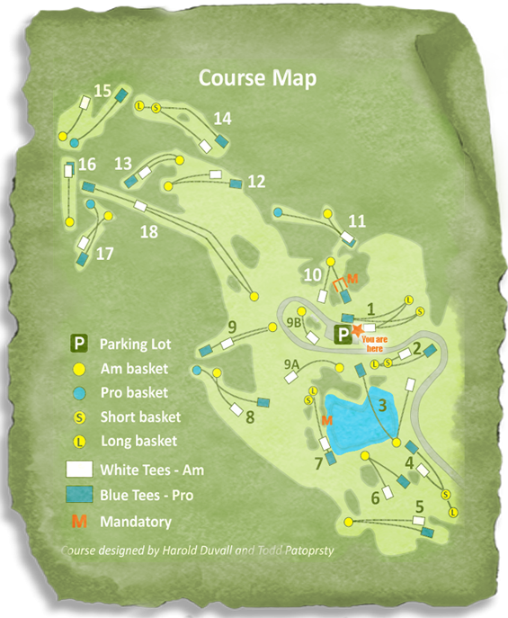 Course Map for Ashe County Disc Golf
