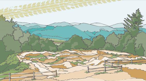 Rocky Knob pump track illustration
