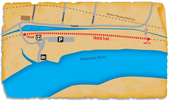 TRACK Trail Map - C & O Canal Hancock