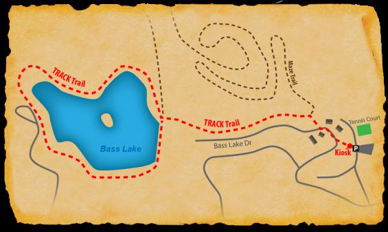 Map of TRACK Trail at Chetola Resort Bass Lake