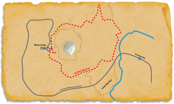 TRACK Trail Map at Devils Tower National Monument