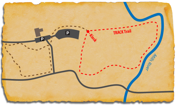Map of TRACK Trail at Mills River Park