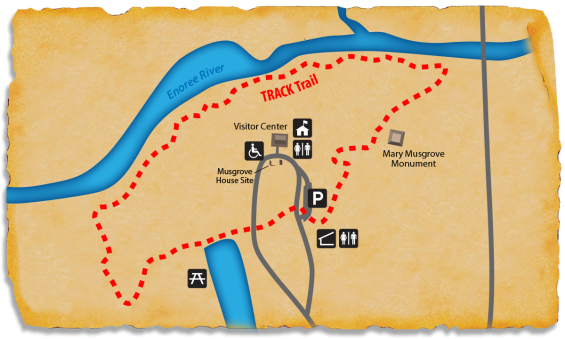 Map of TRACK Trail at Musgrove Mill