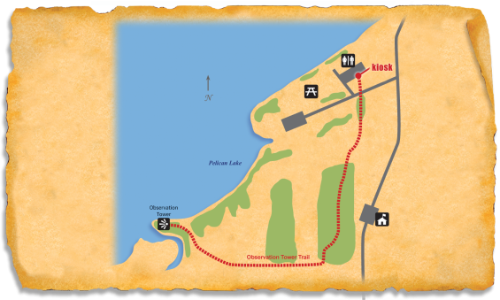 Map of TRACK Trail at Pelican Lake Recreation Area