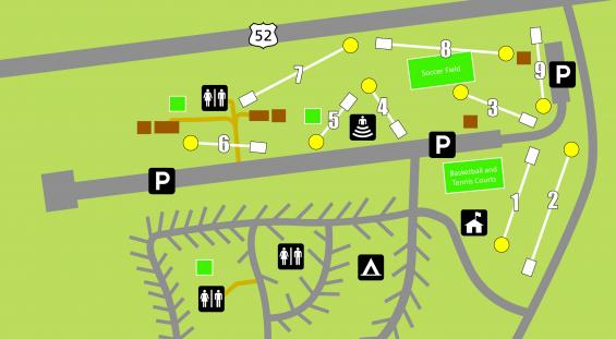 Map of Disc Golf Course