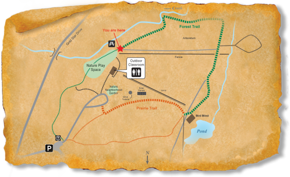 Map of TRACK Trail through Prairie Ridge Ecostation