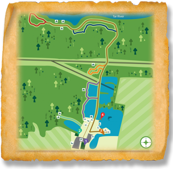 Map of TRACK Trail at River Park North
