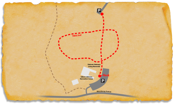 Map of TRACK Trail at Rock Quarry Park