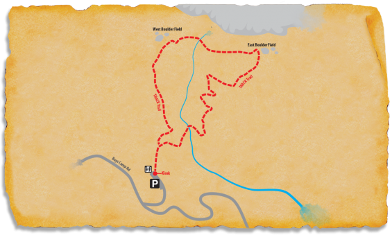 Map of Rumbling Bald TRACK Trail