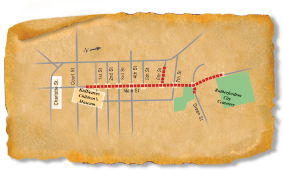 Map of TRACK Trail in Rutherfordton